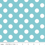 Dots Medium C360-20 Aqua by Riley Blake