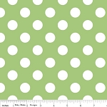 Dots Medium C360-30 Green by Riley Blake