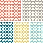 Mod Basics Organic Dottie 5 Fat Quarter Set for Birch Fabrics