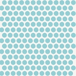 Mod Basics Organic MB-01 Pool on Cream Dottie by Birch Fabrics