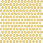 Mod Basics Organic MB-01 Sun on Cream Dottie by Birch Fabrics