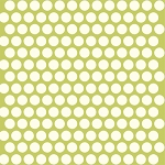 Mod Basics Organic MB-01 Cream on Grass Dottie by Birch Fabrics