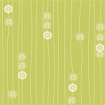 Eiko Organic EK-08 Grass Stamp Stripe by Jay-Cyn Designs for Birch