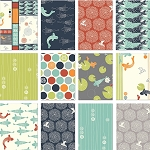 Eiko Organic 12 Fat Quarter Set by Jay-Cyn Designs for Birch