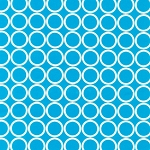 Metro Living 11016-81 Turquoise Circles by R Kaufman