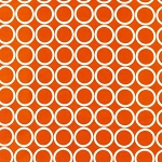 Metro Living 11016-8 Orange Circles by R Kaufman