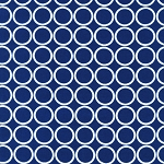 Metro Living 11016-9 Navy Circles by R Kaufman