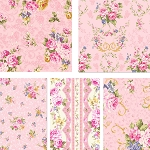 Elegant Roses 5 Fat Quarter Set in Pink by Kilala