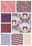 Elizabeth 8 Fat Quarter Set in Plum by Tula Pink for Free Spirit