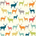 Elk Grove Organic MB2-01 Elk Fam Multi by Birch Fabrics