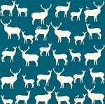 Mod Basics Organic MB2-01 Teal Elk Fam by Birch Fabrics