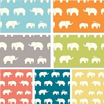 Mod Basics Organic Ellie Fam 7 Fat Quarter Set for Birch Fabrics
