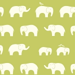 Mod Basics Organic MB-04 Green Ellie Fam by Birch Fabrics