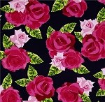 English Rosey 6436-55 Navy Rose Bouquet by Kanvas