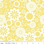Evening Blooms C3511 Yellow Floral by Riley Blake EOB