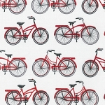 Everyday Favorites 13560-3 Red Bicycles by Robert Kaufman