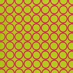 Metro Living 11016-50 Lime Circles by R Kaufman