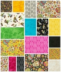 Fabric Fiesta 18 Fat Quarter Set by RJR
