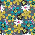 Daisy Doodle  CX3372- Gray  Far Out Floral by Michael Miller EOB