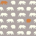 Feather River Organic FR-10 Shroom Bear Hike by Birch Fabrics