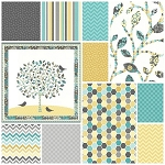 Feathered Friends 10 Fat Quarter + Panel Set by Northcott
