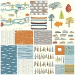 Feather River Organic 13 Fat Quarter Set by Birch Fabrics