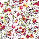 Delightful SG6145 Raspberry Floral Fancy by Michael Miller