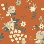 Fort Firefly Organic TW-10 Coral Rose Garden by Teagan White for Birch