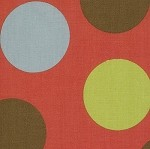 Freebird 33247-11 Multi Dots on Red by MoMo for Moda EOB