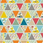 Frolic Organic RG-25 Frolic Triangles by Rebekah Ginda for Birch