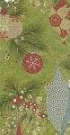 Fruitcake 30220-13  ornaments on boughs by Moda EOB