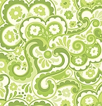 Garden District Sateen SAHB001 Green Cakewalk by Heather Bailey