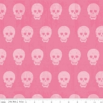 Geekly Chic C511-01 Hot Pink Skulls by Riley Blake