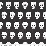 Geekly Chic C511-03 Black Skulls by Riley Blake
