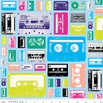 Geekly Chic C514-01 Blue Cassettes by Riley Blake