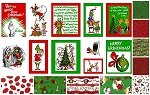 How the Grinch Stole Christmas 10 Fat Quarters+Panel by Dr. Seuss