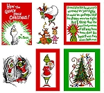 How the Grinch Stole Christmas 11224-223 Holiday Panel by Dr. Seuss