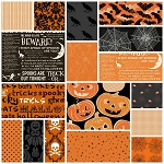 Halloween 17 Fat Quarter Set in Orange & Black