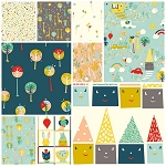 Happy Town Organic 9 Fat Quarter Set by Birch Fabrics