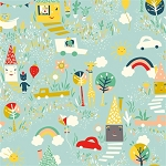 Happy Town Organic EI-19 Happy Town by Birch Fabrics