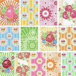 Happy Mochi Yum Yum 13 Fat Quarter Set by Lecien