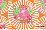 Happy Mochi Yum Yum 30303-40 Orange Floraburst by Lecien EOB