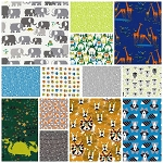 Happy Drawing Organic 13 Fat Quarter Set by Cloud 9