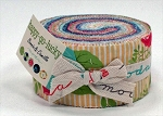 Happy Go Lucky Jelly Roll by Bonnie & Camille for Moda