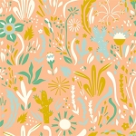 Happy Town Organic EI-25 Happy Floral by Birch Fabrics
