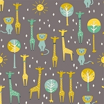 Happy Town Organic EI-21 Shroom Happy Pals by Birch Fabrics