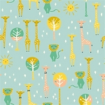 Happy Town Organic EI-21 Sky Happy Pals by Birch Fabrics