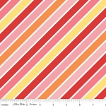 Hello Sunshine C3152 Pink Stripe by Lori Whitlock for Riley Blake