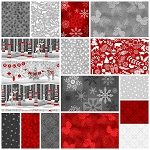 Holiday Magic 15 Fat Quarter Set by Jan Shade Beach for Henry Glass