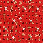 Holiday Spot & Dot M7449 C Red by Alexander Henry